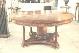large round oak dining table room sets mahogany radial with patent action