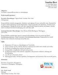 Cover Letter For Housekeeping Position In Hotel Cover Letter