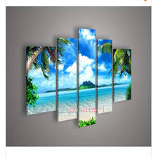 large beach wall art on canvas beach mural ocean beach creative