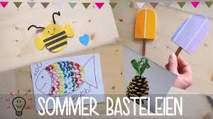 Basteln Sommer Fchervogel Basteln With Basteln Sommer Perfect
