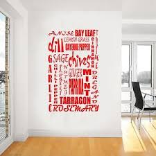 kitchen spices and herbs sticker wall art mural giant large  on large kitchen wall art with amazon kitchen spices and herbs sticker wall art mural