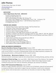College Resume Template For High School Students Inspirational