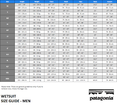 Mens Patagonia Size Chart Best Picture Of Chart Anyimage Org