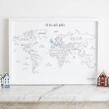 Personalised World Pinboard Map With Pins By Louisa Elizabeth