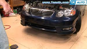 how to install replace front bumper cover toyota corolla 03 08 2007 Toyota Corolla Front Diagram how to install replace front bumper cover toyota corolla 03 08 1aauto com youtube 2009 Toyota Corolla Diagram