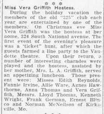 Vera Griffith's Party - Newspapers.com