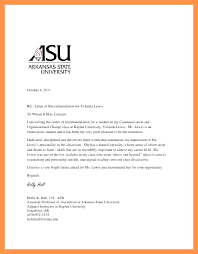 Letter Of Recommendation Graduate School Sample From Professor For