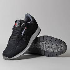 reebok shoes black. reebok cl leather nm shoes black l