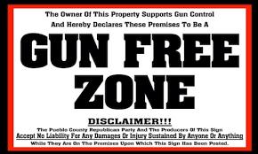 anti gun control sign.  Gun Gun Free Zone Sign And Anti Control