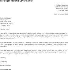 Cover Letter For Paralegal Resume