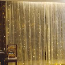 Curtain String Led Lights 3x3m Led Icicle Window Curtain String Lights 300 Led