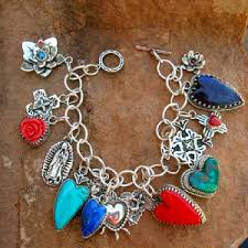 southwestern sterling silver multi charm turquoise c rosarita lapis by traditional spanish market award winng native