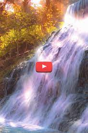 landscape waterfall painting wallpaper ...