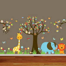 Small Picture Animal Wall Mural for Nursery Room Decor Wallpaper Mural Ideas