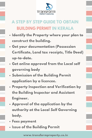 steps to obtain a building permit in kerala