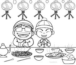 Small Picture Printable Chinese New Year Coloring Pages For Kids At Free