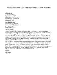 Application Letter For Medical Representative Without Experience
