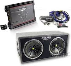 kicker zx dc ck zx dc one low price for kicker combo zx300 1 amplifier dc122 comp subs box ck8 amp kit