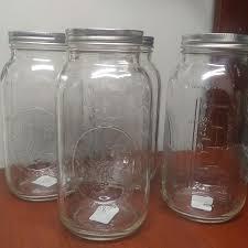 4 Extra Large Mason Glass Jars - 64 oz