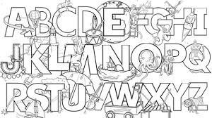 Small Picture Alphabet Coloring Pages A Z Picture Coloring Alphabet Coloring