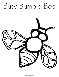 Small Picture Busy Bumble Bee Coloring Page Twisty Noodle