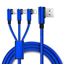 Gocomma 1.5m Universal 3 in <b>1 USB</b> Charging Cable Double-Sided ...