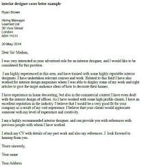 interior designer cover letter example cover letter interior designer