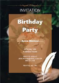 Elegant Birthday Party Invitation Free Elegant Birthday
