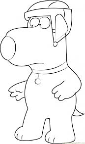 Coloring Brian Griffin Wearing Helmet Coloring Page Free