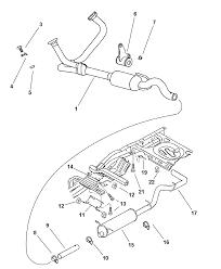 2001 dodge dakota exhaust system diagram 00i45460
