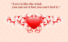 Love Is Like The Wind Quotes Wallpaper