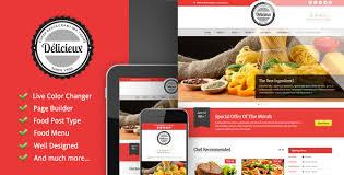 Wp Restaurant Themes Delicieux Premium Responsive Restaurant Wordpress Theme