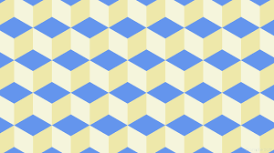 Wallpaper White Blue 3d Cubes Yellow F5f5dc Eee8aa 6495ed 300