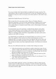 High School Student Resume Example Resume Examples for Highschool Students Best Of Filipino Student 50