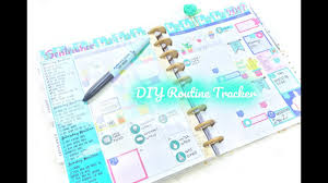 Day Tracker Planner How To Track Routines In A Happy Planner Diy Routine Tracker