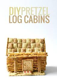 diy edible pretzel log cabins