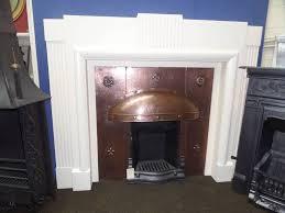 antique art deco painted surround fireplace