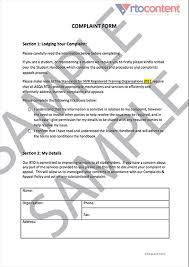 Complaint Form • Rtocontent