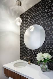 powder bath- but full mirror side to side...tile behind.