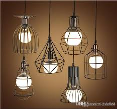 pendant lighting industrial. Loft Hanging Lights Vintage Iron Birdcage Pendant Lighting Industrial Cafe Bar Bedroom Restaurant Living Room Light Fixture Lamp D