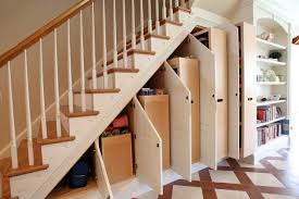 Interior:Under Stairs Storage Solutions Outstanding Under Stair Storge  Cabinet Decorating With White Fence Ideas