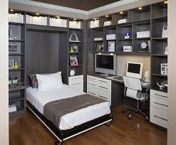home office with wall bed