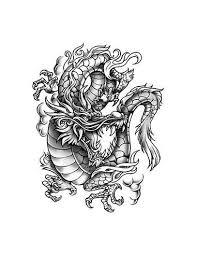šedý Drak Velké Nalepovací Tetování