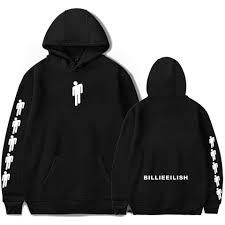<b>New Hot Billie Eilish</b> Hoodie Men Black Cotton Hoodie Couple Billie ...