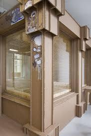 back to nothing cardboard office interior by alrik koudenburg and joost van bleiswijk cardboard office