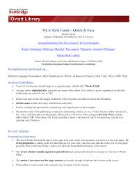 Mlacitation Quickguide Mktg 201 Principles Of Marketing Studocu