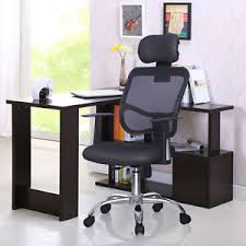 high back mesh office chair with leather effect headrest. image is loading ergonomic-mesh-high-back-executive-computer-office-chair- high back mesh office chair with leather effect headrest e