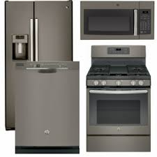 ge slate gas range. Package 37 - GE Appliance 4 Piece With Gas Range Includes Free Microwave Slate Ge