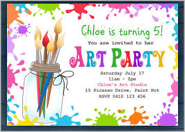 free birthday invitation template for kids art party invitation templates kids templa on rainbow themed