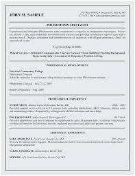 Phlebotomy Resume Sample Terrific Phlebotomist Resume Examples